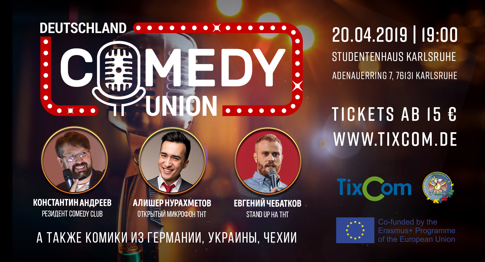 Comedy Union am 20.04.2019